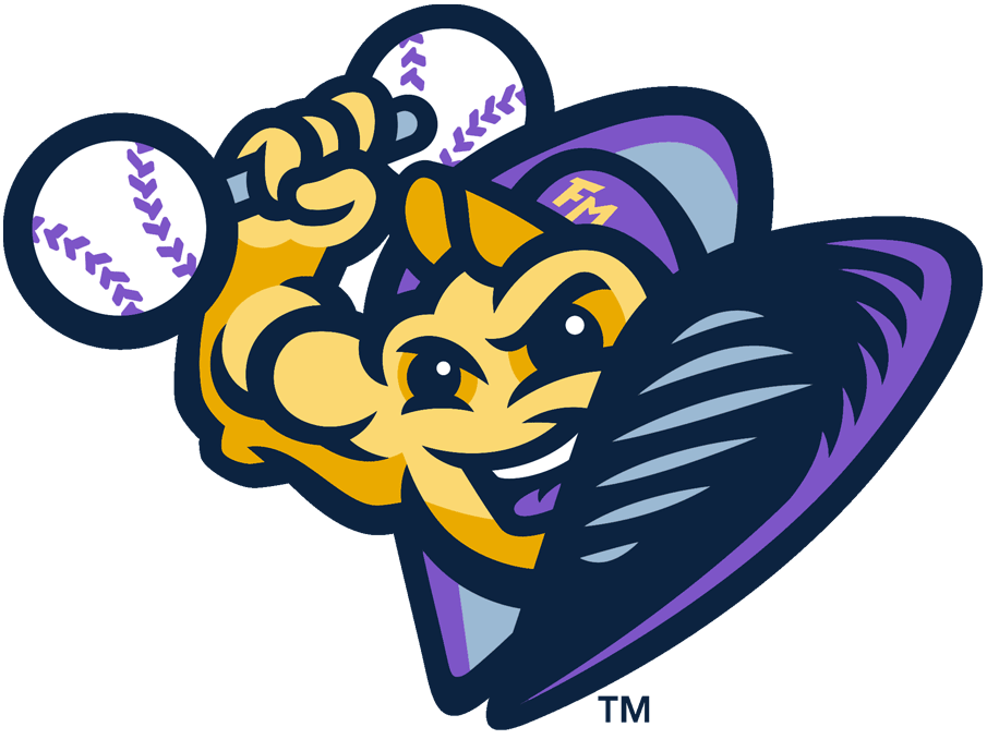 Fort Myers Mighty Mussels Logo Alternate Logo (2020-Pres) - A mussel in a shell wearing a cap and weightlifting SportsLogos.Net