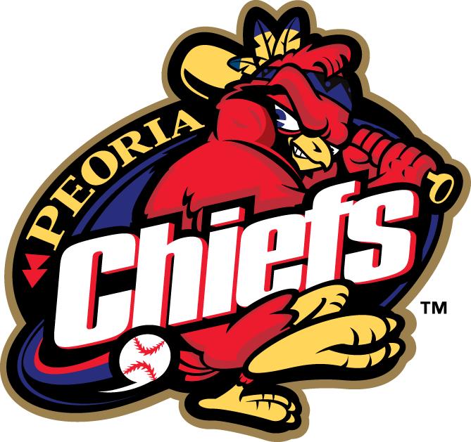 Peoria Chiefs Logo Primary Logo (1996-2004) -  SportsLogos.Net