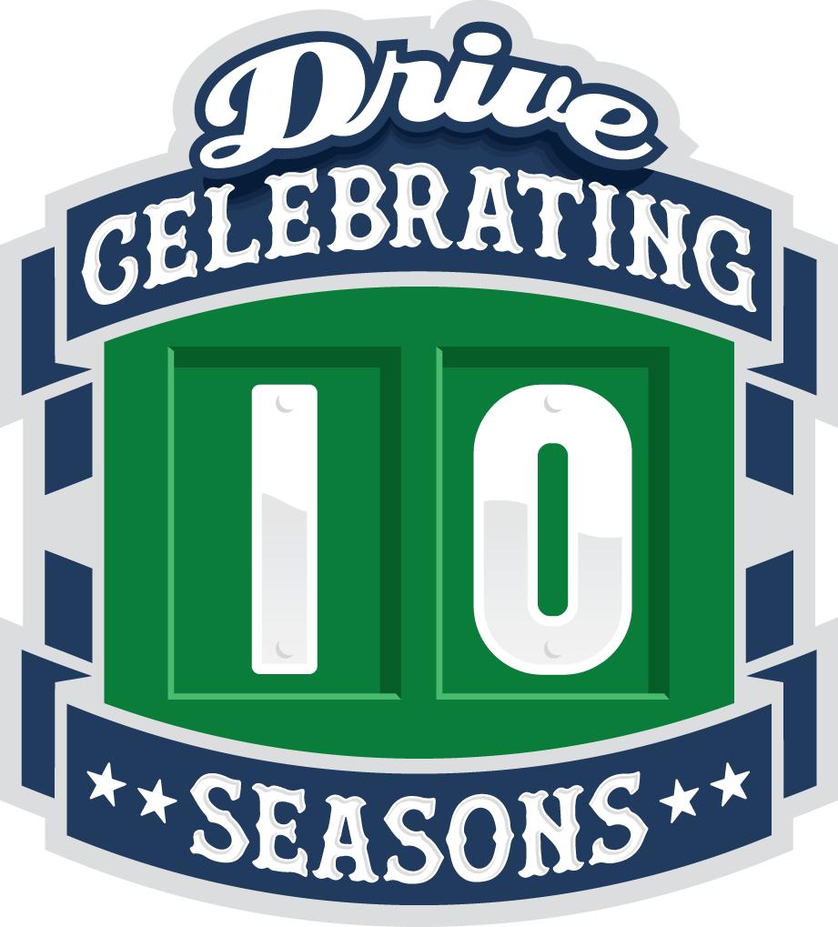 Greenville Drive Logo Anniversary Logo (2015) -  SportsLogos.Net