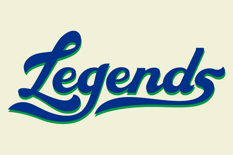 Lexington Legends Logo Wordmark Logo (2013-Pres) - Home Uniform Script SportsLogos.Net