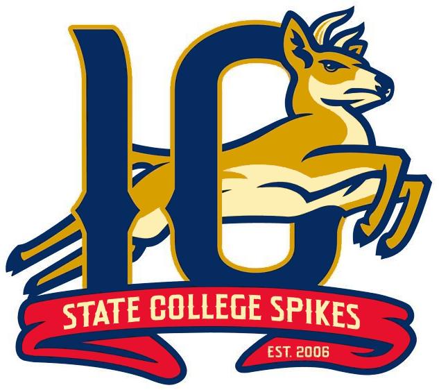 State College Spikes Logo Anniversary Logo (2015) - State College Spikes 10th season logo SportsLogos.Net