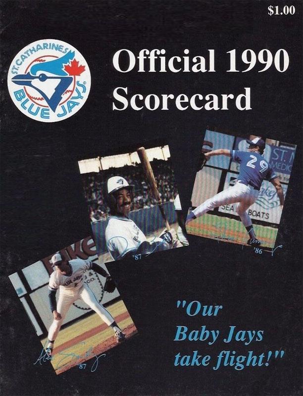 St. Catharines Blue Jays Program Program (1990) -  SportsLogos.Net