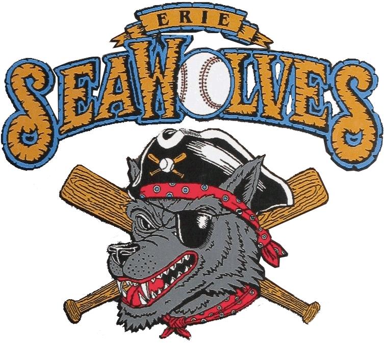Erie SeaWolves Logo Primary Logo (1995-1998) -  SportsLogos.Net