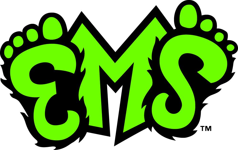Eugene Emeralds Logo Jersey Logo (2013-Pres) - EMS in neon green and black. SportsLogos.Net