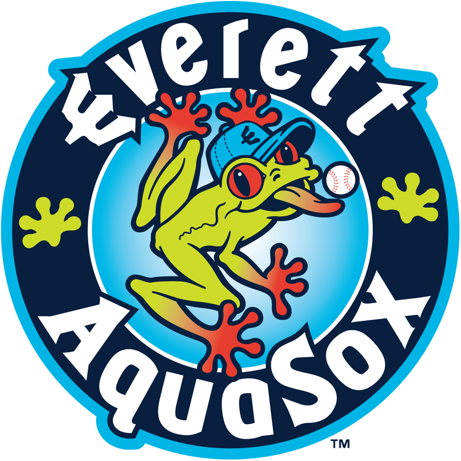 Everett AquaSox Logo Primary Logo (2013-Pres) - S in AquaSox changed to uppercase, previously all lower case