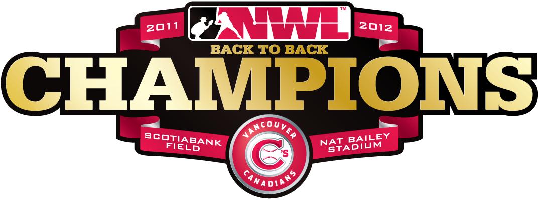 Vancouver Canadians Logo Champion Logo (2012) - 2012 Northwest League Champions logo SportsLogos.Net