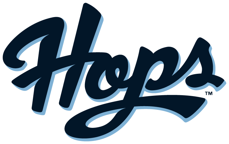Hillsboro Hops Logo Wordmark Logo (2013-Pres) - Home Uniform Script SportsLogos.Net