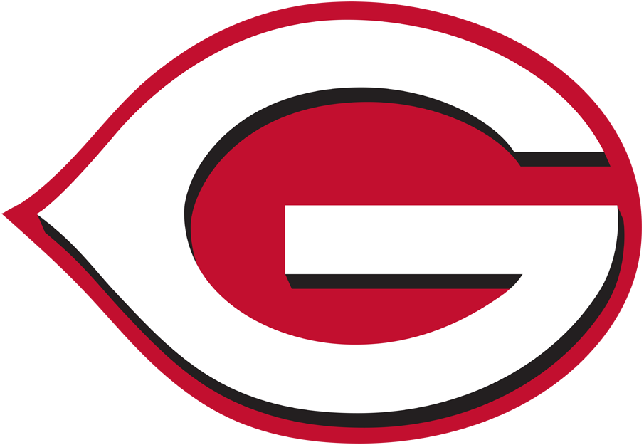 Greeneville Reds Logo Primary Logo (2018-2020) - Cincinnati Reds logo with the C changed to a G SportsLogos.Net