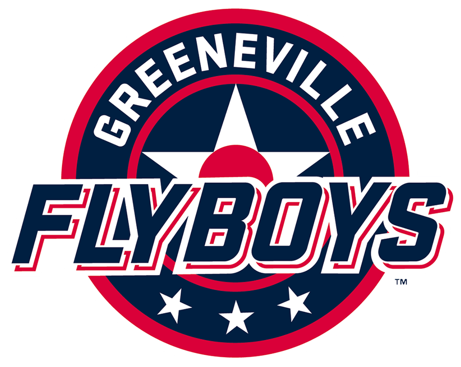 Greeneville Flyboys Logo Primary Logo (2021-Pres) - The Greeneville Flyboys primary logo consists of a white star and a red circle placed within a blue and red circle, three white stars below, and the team name across in blue and red SportsLogos.Net
