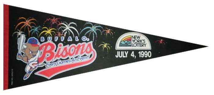 Buffalo Bisons Pennant Pennant (1990) - Buffalo Bisons promo pennant from July 4, 1990 SportsLogos.Net