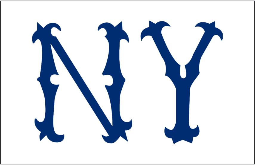 New York Highlanders Logo Jersey Logo (1904) - NY in blue on white, worn on New York Highlanders home jersey during 1904 season SportsLogos.Net