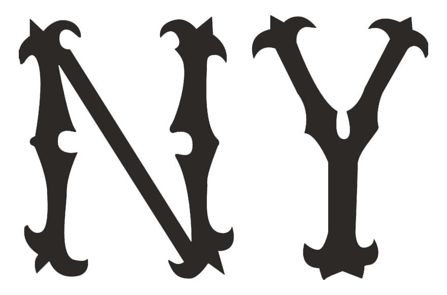 New York Highlanders Logo Primary Logo (1903) - A 'NY' in black SportsLogos.Net