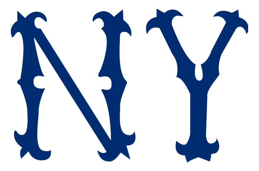 New York Highlanders Logo Primary Logo (1904) - NY in blue SportsLogos.Net