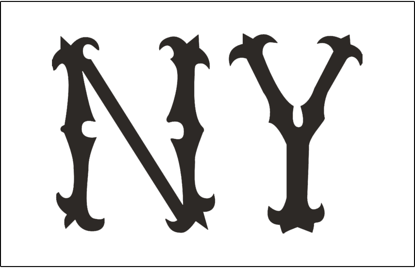 New York Highlanders Logo Jersey Logo (1903) - NY in black on white, worn on New York Highlanders home jersey during 1903 season SportsLogos.Net