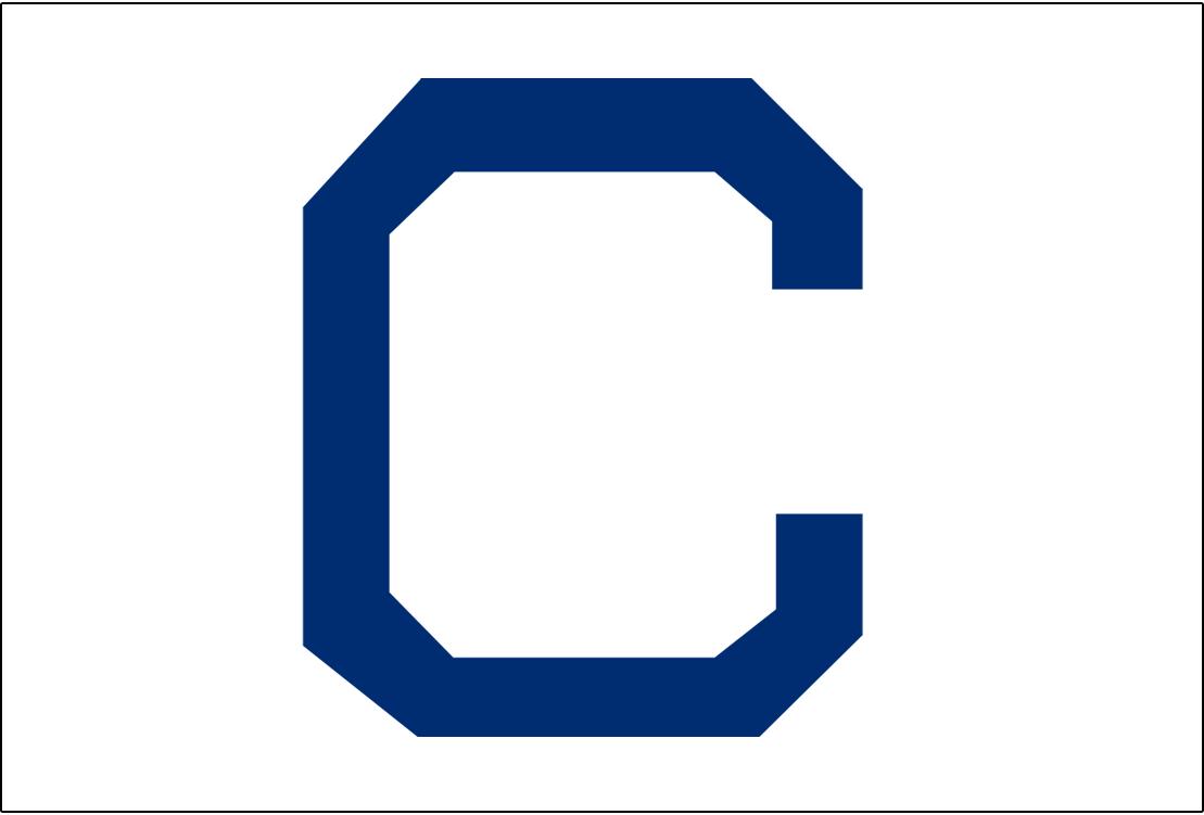 Cleveland Naps Logo Jersey Logo (1910-1914) - A blue C on white, worn on Naps home jerseys from 1910-14 SportsLogos.Net