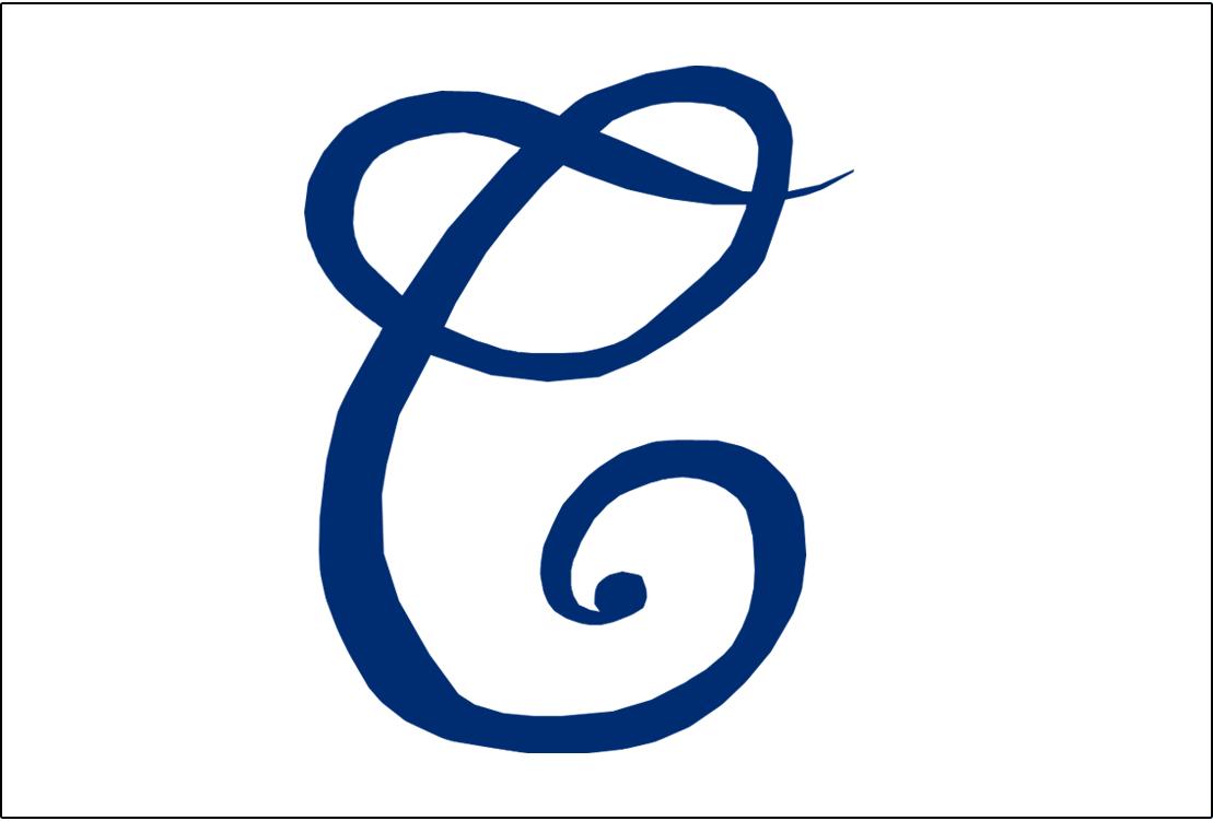 Cleveland Naps Logo Jersey Logo (1906-1908) - A cursive blue C on white, worn on Naps home jerseys from 1906-08 SportsLogos.Net