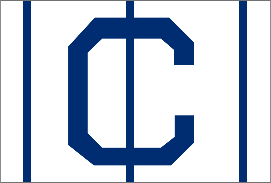 Cleveland Naps Logo Cap Logo (1905) - A blue C on white with blue vertical lines, worn on Naps home cap during 1905 season SportsLogos.Net