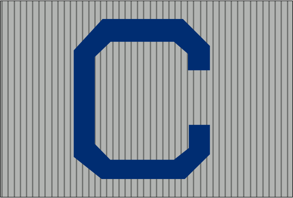 Cleveland Naps Logo Cap Logo (1908-1909) - A blue C on grey with grey pinstripes. Worn on Naps road caps from 1908-09 SportsLogos.Net