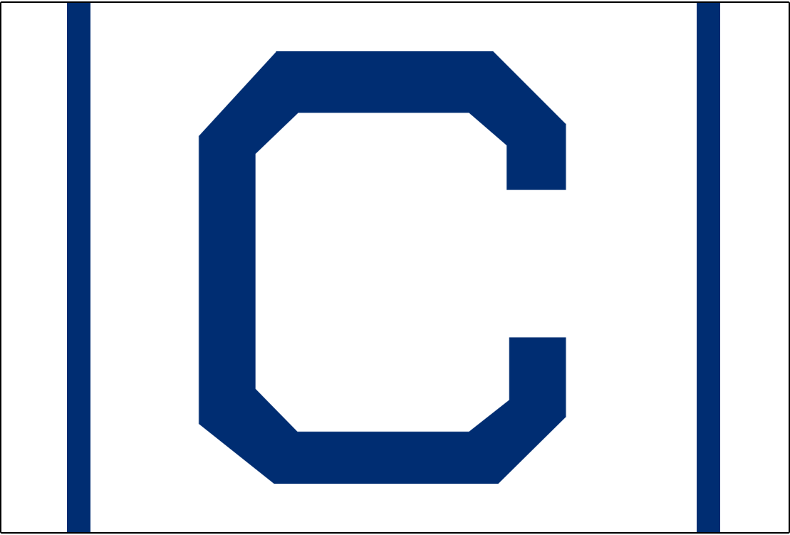 Cleveland Naps Logo Cap Logo (1908) - A blue C on white with two blue vertical lines on either side, worn on Naps home caps in 1908 SportsLogos.Net