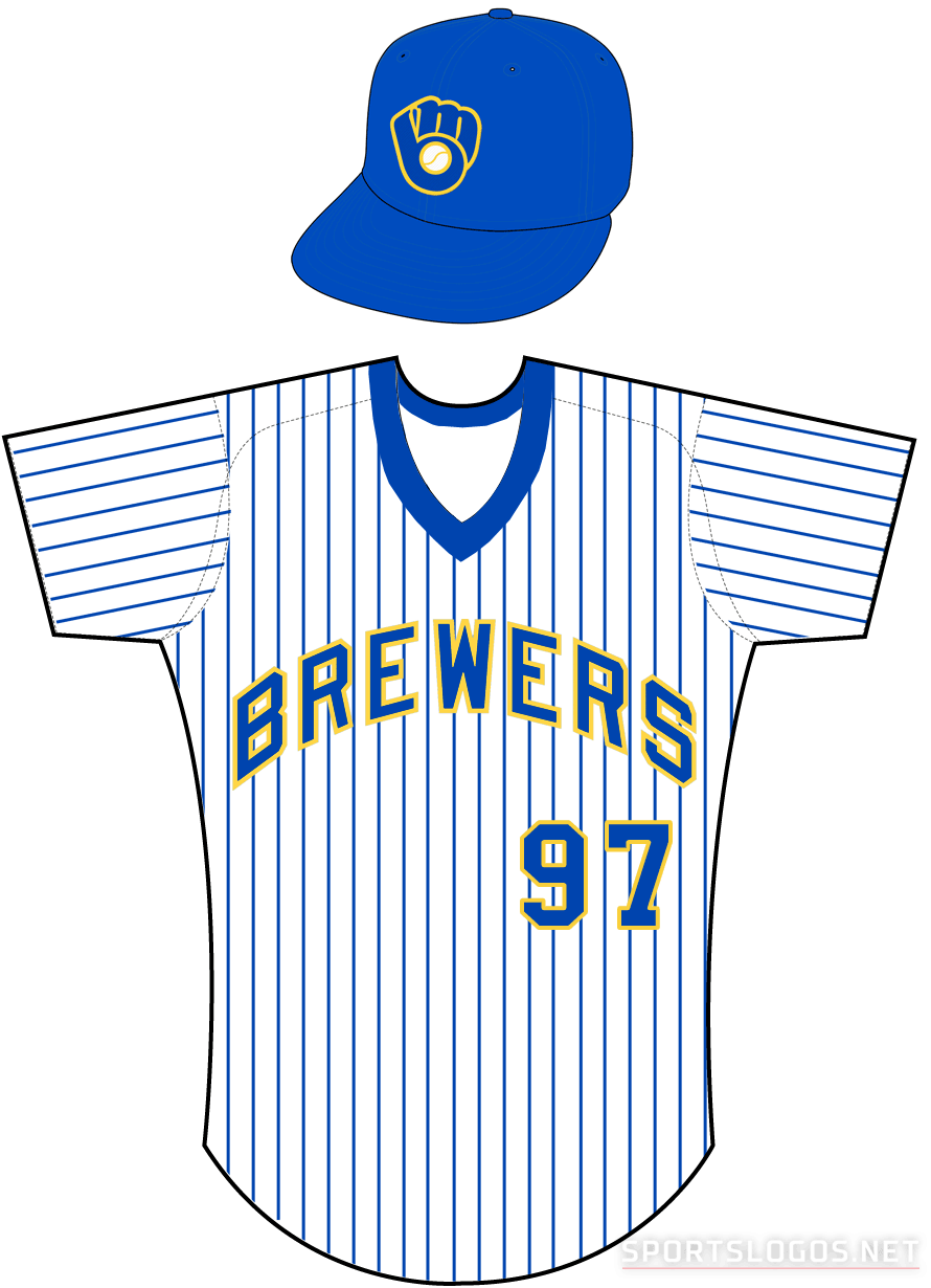 timeless design 9a7cb e6371 Milwaukee Brewers Home Uniform - American League (AL ...