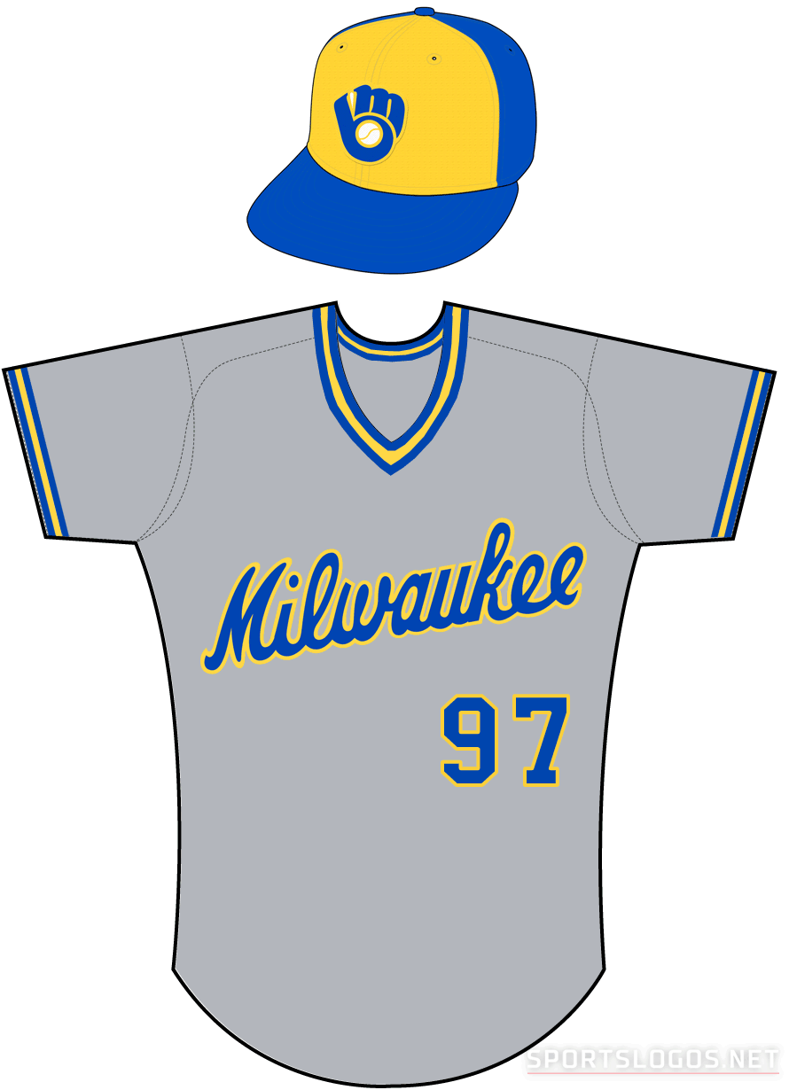 Milwaukee Brewers Uniform Road Uniform (1985) -  SportsLogos.Net