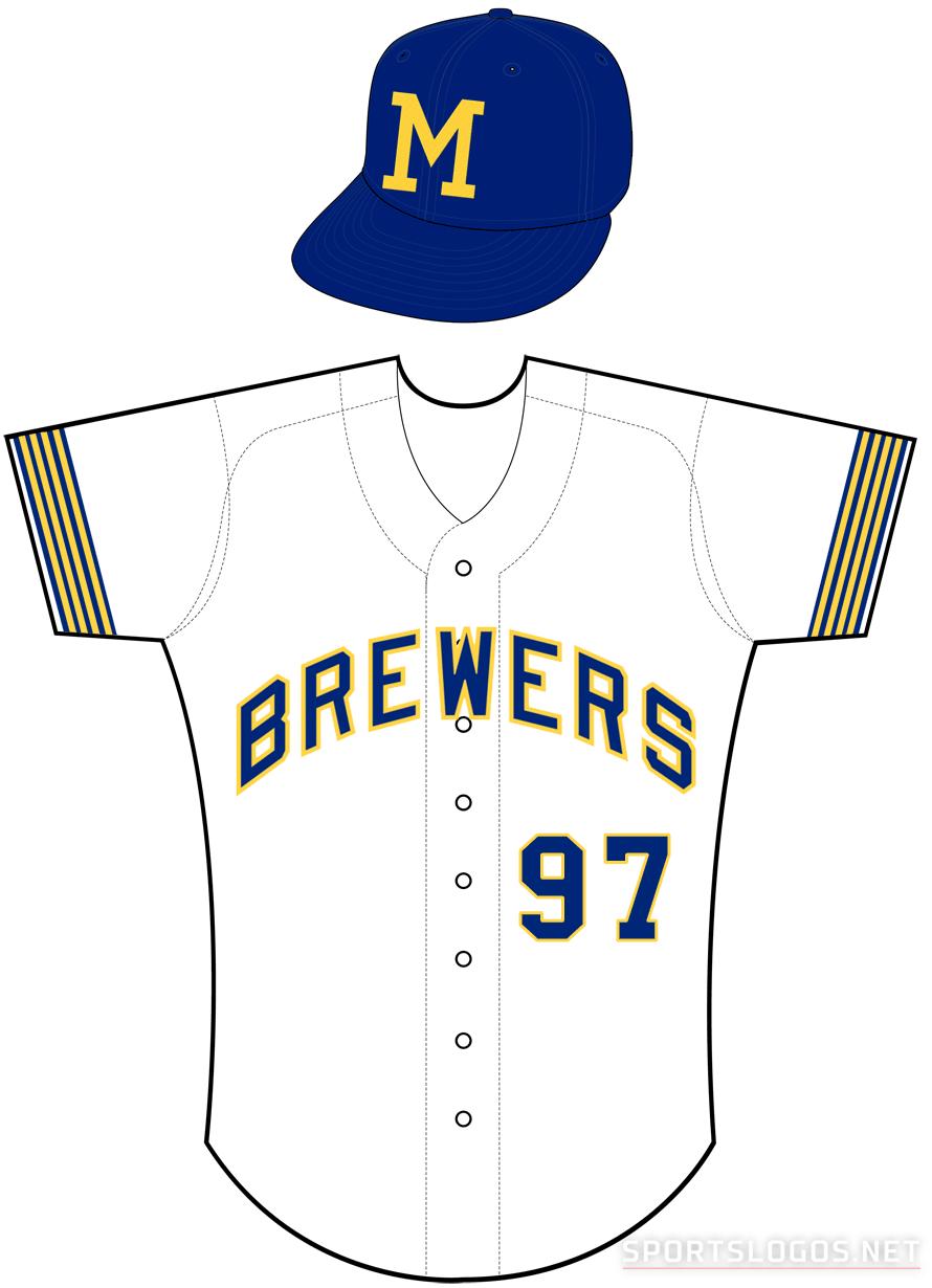 Milwaukee Brewers Uniform Home Uniform (1971) -  SportsLogos.Net