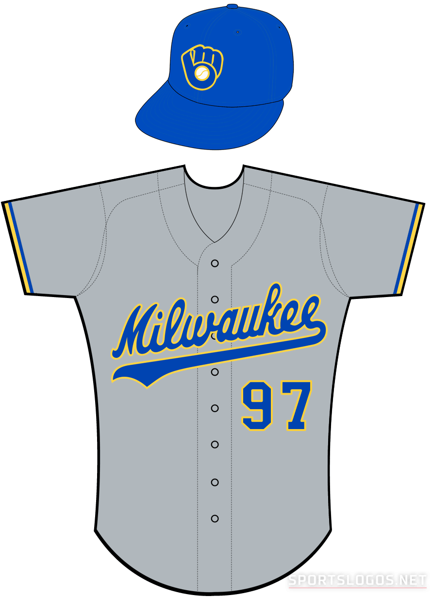 Milwaukee Brewers Uniform Road Uniform (1990-1993) -  SportsLogos.Net