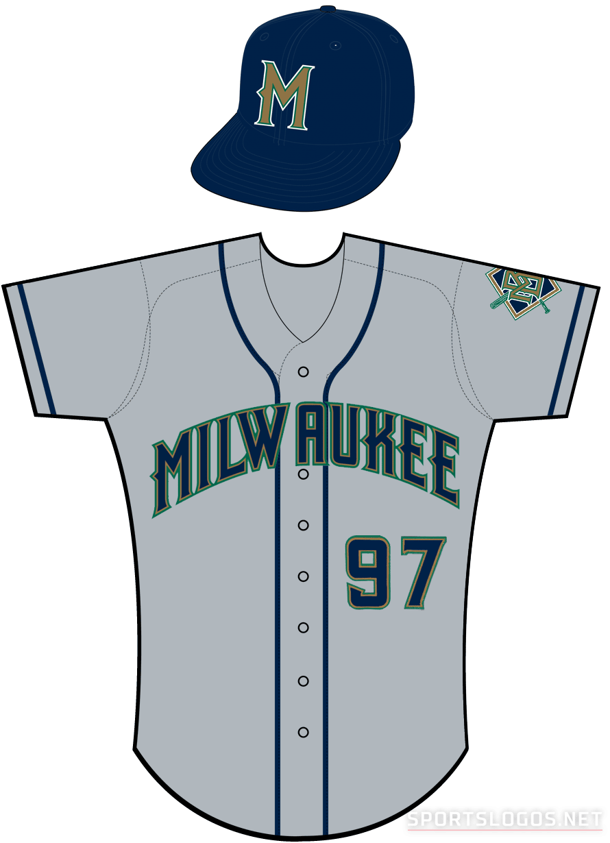 Milwaukee Brewers Uniform Road Uniform (1997) -  SportsLogos.Net