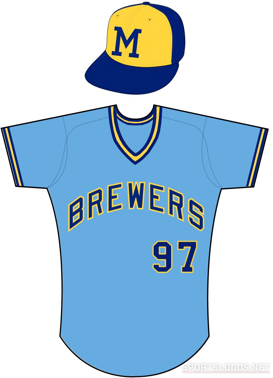 Milwaukee Brewers Uniform Road Uniform (1974-1977) -  SportsLogos.Net