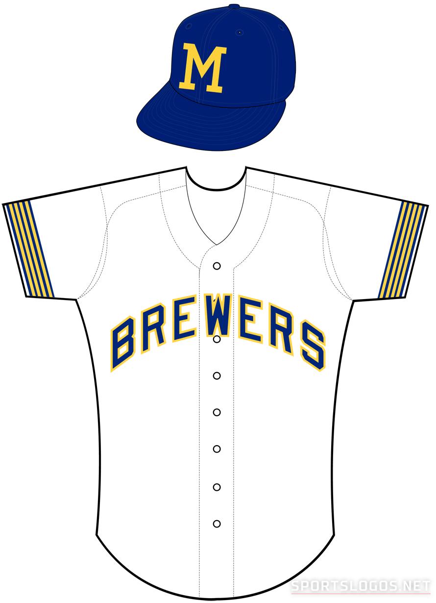 Milwaukee Brewers Uniform Home Uniform (1970) -  SportsLogos.Net