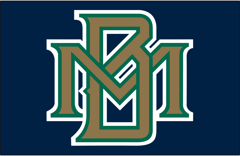 Milwaukee Brewers Logo Cap Logo (1994-1996) - Interlocking MB in gold with green and white outlines on blue SportsLogos.Net