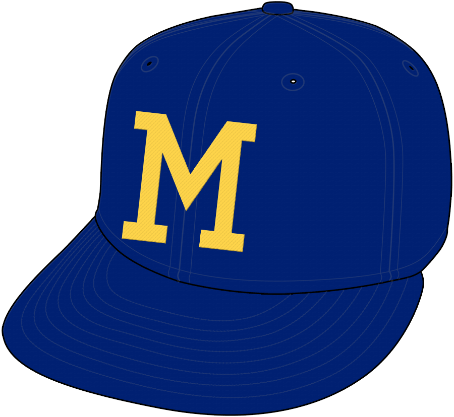 Milwaukee Brewers Cap Cap (1970-1977) - Home Only 1974-77 SportsLogos.Net