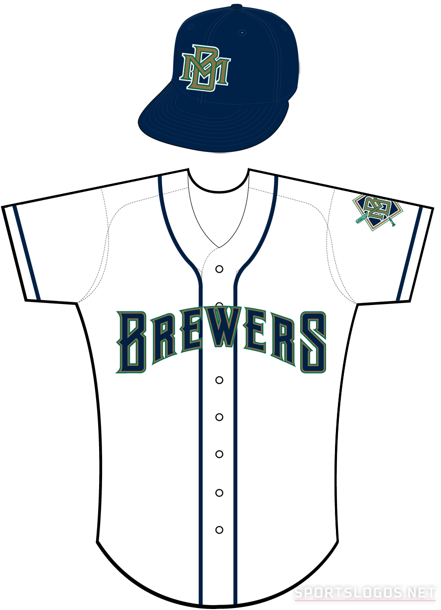 Milwaukee Brewers Uniform Home Uniform (1994-1996) -  SportsLogos.Net