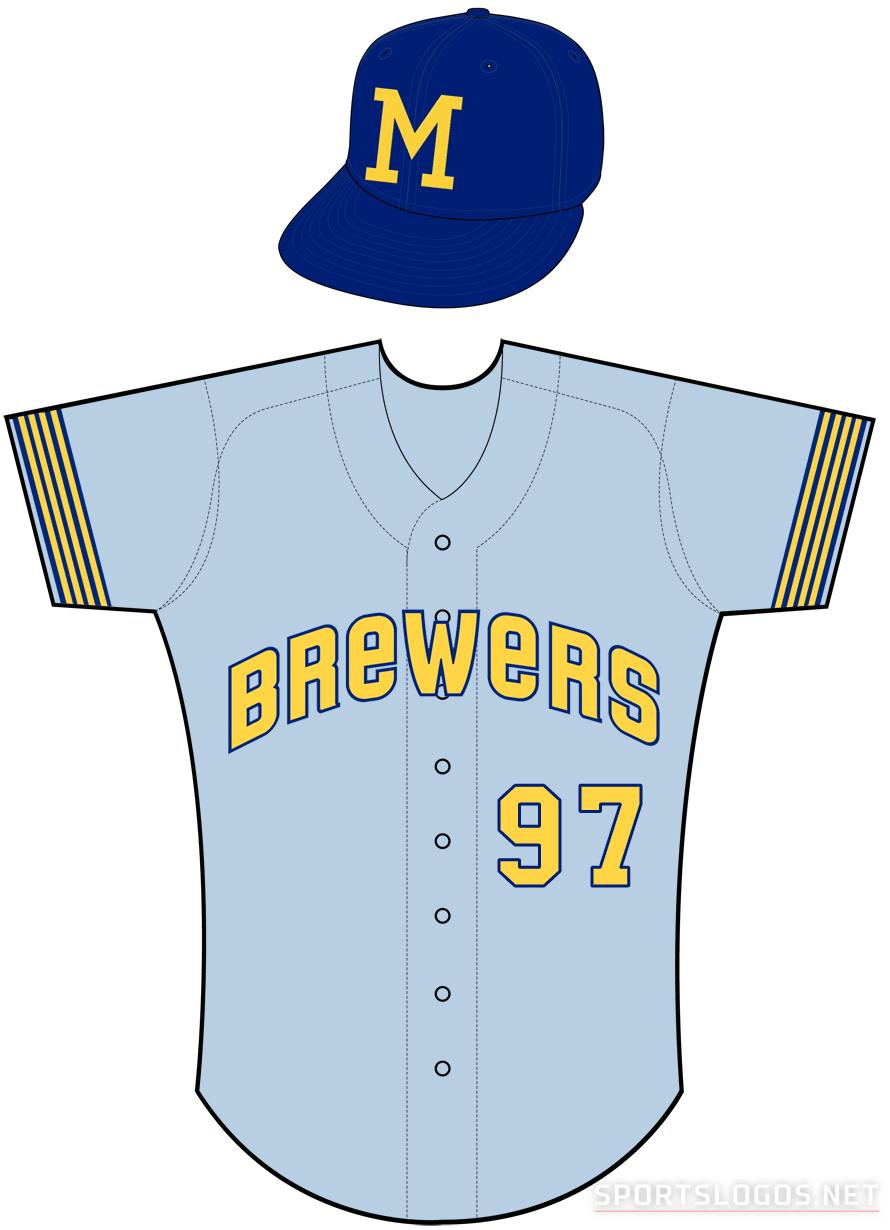 Milwaukee Brewers Uniform Road Uniform (1971) -  SportsLogos.Net