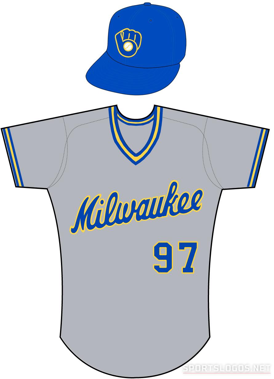 Milwaukee Brewers Uniform Road Uniform (1986-1989) -  SportsLogos.Net