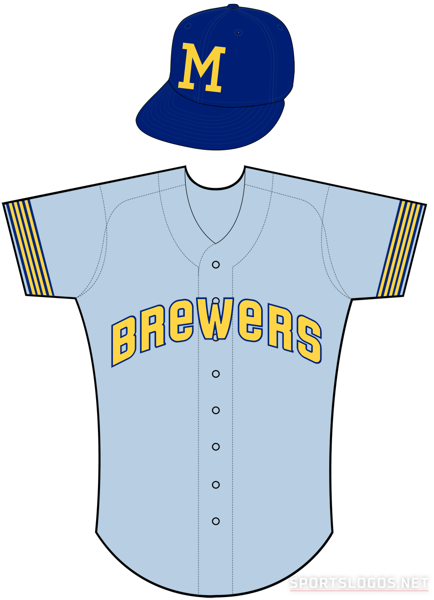 Milwaukee Brewers Uniform Road Uniform (1970) -  SportsLogos.Net