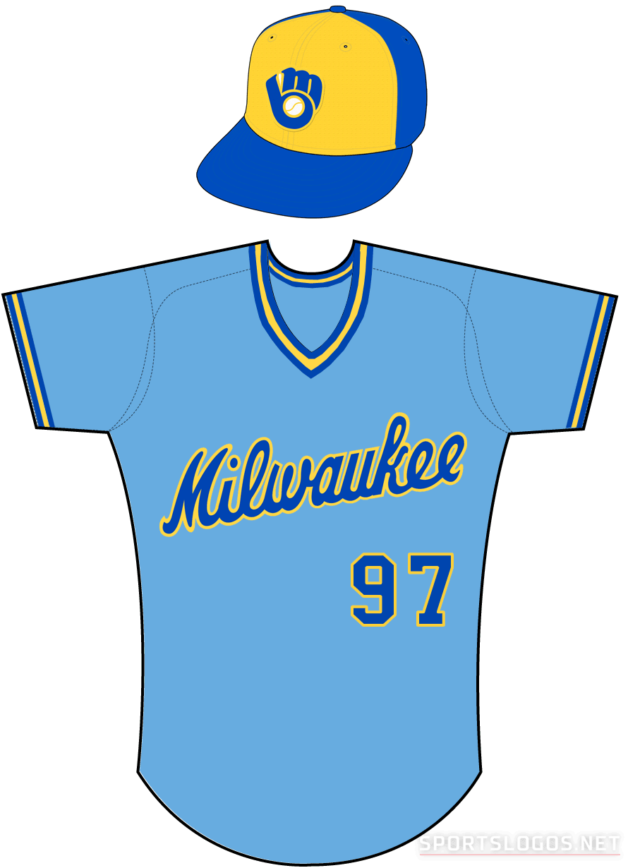 cacc316dd28 Milwaukee Brewers Road Uniform - American League (AL) - Chris ...
