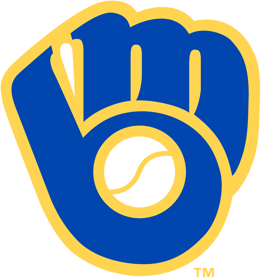 Milwaukee Brewers Logo Primary Logo (1978-1993) - 'MB' together in the shape of a baseball glove SportsLogos.Net