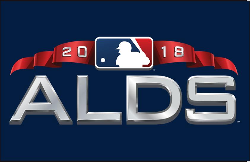 ALDS Logo Primary Dark Logo (2018) - American League Division Series Logo ALDS on blue SportsLogos.Net