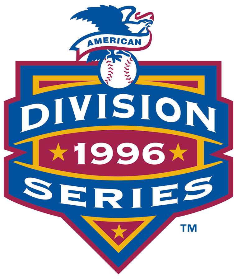 ALDS Logo Primary Logo (1996) - Baltimore 3, Cleveland 1 / New York Yankees 3, Texas 1 SportsLogos.Net