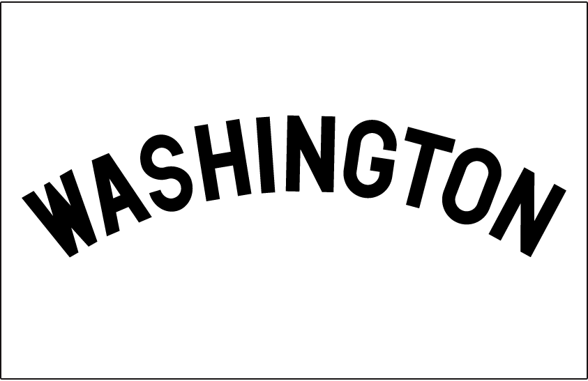 Washington Senators Logo Jersey Logo (1901) - Home jersey wordmark SportsLogos.Net