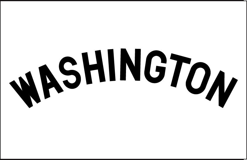Washington Senators Logo Jersey Logo (1904) - Home jersey wordmark SportsLogos.Net