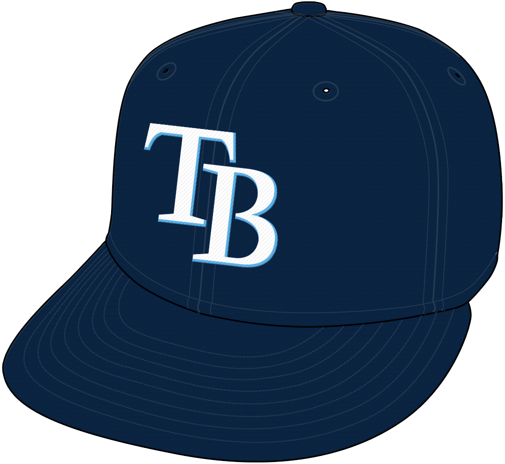 Tampa Bay Rays Cap Cap (2008-Pres) - Tampa Bay Rays home and road all-navy blue cap SportsLogos.Net