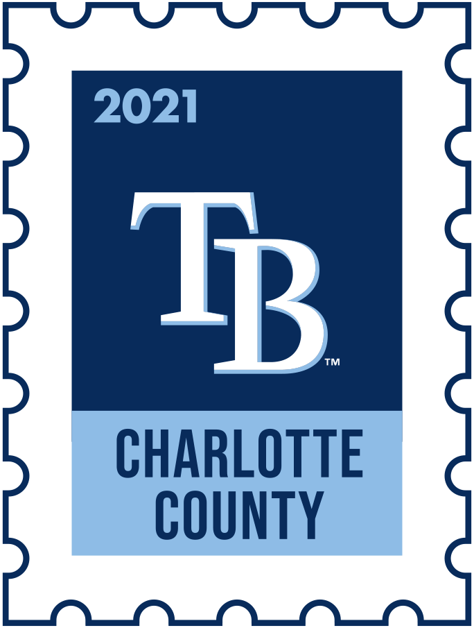 Tampa Bay Rays Logo Event Logo (2021) - The Tampa Bay Rays 2021 Spring Training logo, the design follows a league-wide style using a postage stamp in team colours with the team logo in the middle. SportsLogos.Net