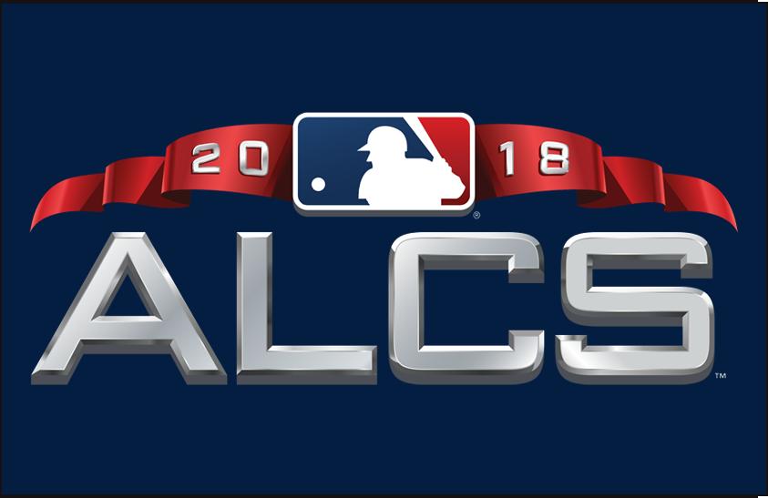 ALCS Logo Primary Dark Logo (2018) - American League Championship Series Logo ALCS on blue SportsLogos.Net