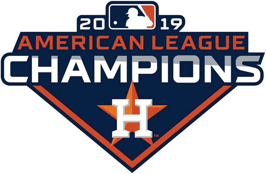 Houston Astros Logo Champion Logo (2019) - Houston Astros 2019 American League AL Champs logo SportsLogos.Net