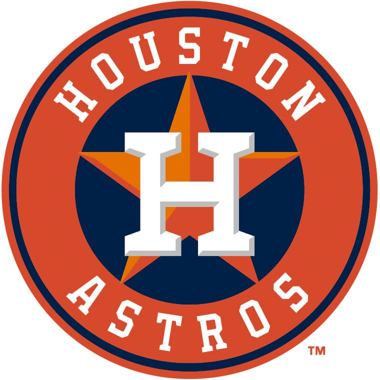 Houston Astros Logo Alternate Logo (2013-Pres) - Primary logo with orange and blue reversed.  Worn on sleeve of Houston Astros home jersey only SportsLogos.Net