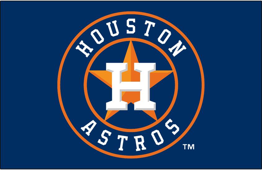 Houston Astros Logo Primary Dark Logo (2013-Pres) - Astros primary logo on blue SportsLogos.Net