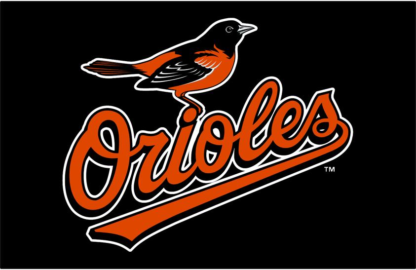 Baltimore Orioles Logo Primary Dark Logo (2009-2018) - Orioles primary logo on black SportsLogos.Net