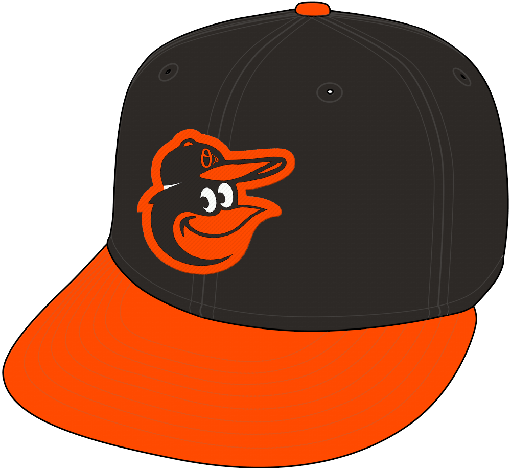 Baltimore Orioles Cap Cap (2012-Pres) - Road Only SportsLogos.Net